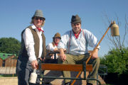 The Mangledwurzels on a cart at the Wellow Trekking Centre