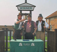 The Mangledwurzels in the Winners Enclosure at Brighton Racecourse during the Brighton Cider Festival (29 Apr 2007).