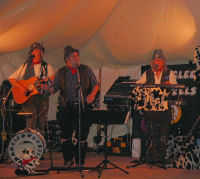 The Mangledwurzels in full flow at  Robins Lake Marquee in Bremhill (9 June 2007)