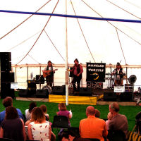 The Mangledwurzels on stage at the Holt Music Festival (7 June 2008)