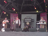 The Mangledwurzels on stage at the EDF Energy Bristol Harbour Festival (2 Aug 2008)