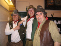 The Mangledwurzels relaxing before the Ansford & Castle Cary French Twinning Exchange Concert at Caryford Hall (12 Apr 2009)